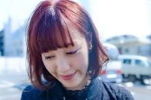 レッド、ピンク系カラーのベーシックボブ【vicca 萩原】