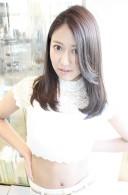 2014春カラー☆グレージュで作る透明感×黒髪ミディアム