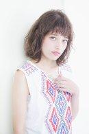 GARDEN 羽田 ひろむ カジュアル レイヤーミディ ラフパーマスタイル 2015 トレンドヘア